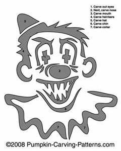 9 best pumpkin stencil images on pinterest pumpkin for Creepy clown pumpkin stencil