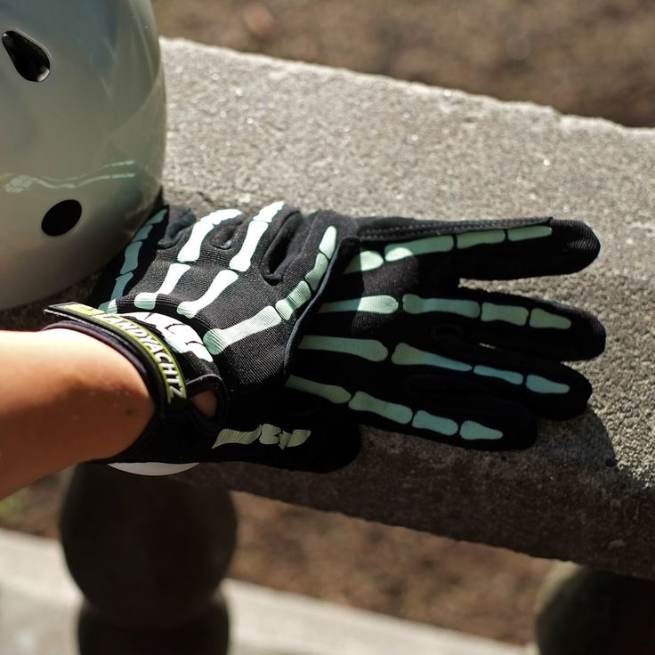 Landyachtz Bones Glow In The Dark Slide Gloves Top