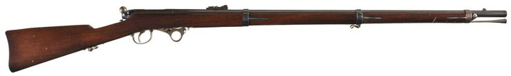 peashooter85:  The Greene Breechloading Bolt Action Rifle  Inspired by the Prussian Dreyse needlefire rifle the Greene rifle was a single shot bolt action breechloading rifle that saw limited use during the American Civil War. Invented by Lt. Col. J. Durrel Greene in 1857 the Greene rifle was the first American bolt action military rifle and the only underhammer percussion rifle that ever saw official military service. The Greene rifle fired a .54 caliber combustible paper cartridge. The…