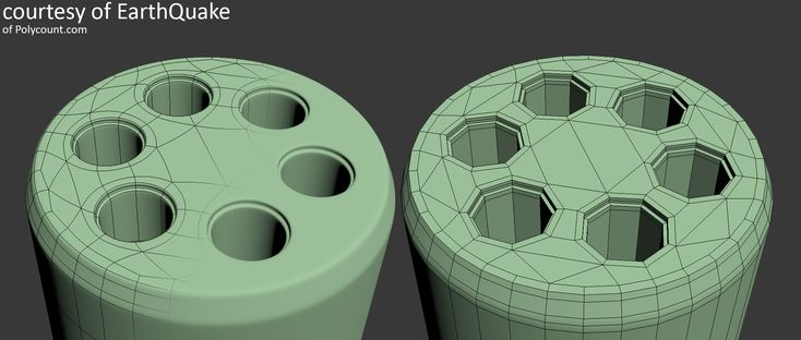 Capping a Cylinder with Holes One of multiple ways to cap the end of a shape like a revolver cylinder in a relatively clean way.