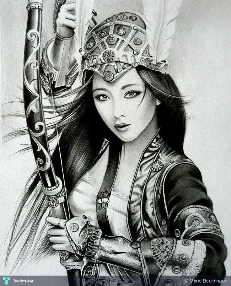 2109 best art images on pinterest tattoo designs tattoo for Female samurai tattoo