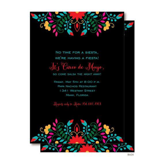 Cinco de Mayo Fiesta Invitations by DelightPaperie on Etsy, $20.00