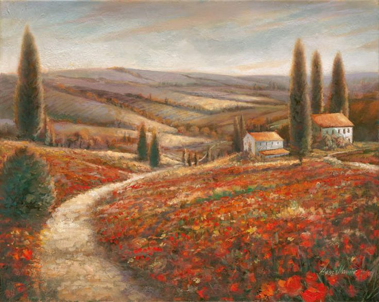 Tuscan Landscape I by Ruane Manning - Art Print Framed & Unframed at www.framedartbytilliams.com