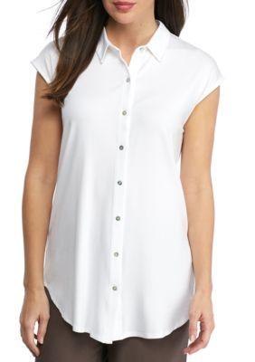 Eileen Fisher Women's Classic Collar Shirt -  - No Size