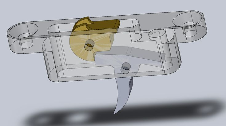 Small Crossbow Mechanism (Rolling nut style) - STEP / IGES,SOLIDWORKS,Parasolid - 3D CAD model - GrabCAD