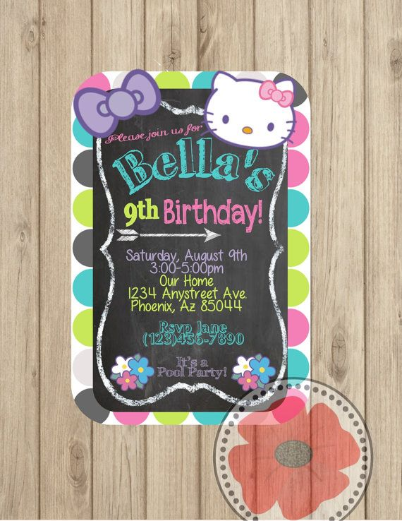 Hello Kitty Invitation ~ DIY Printable on Etsy, $5.00