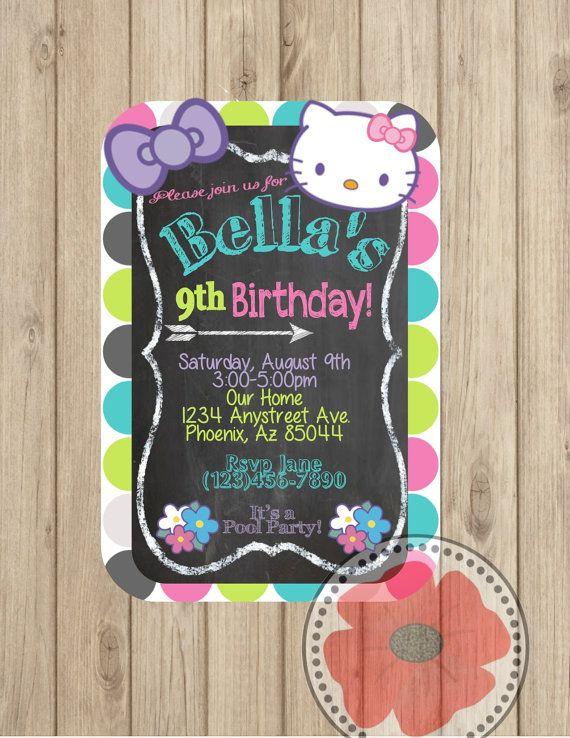 Hello Kitty Invitation ~ DIY Printable on Etsy, $5.00