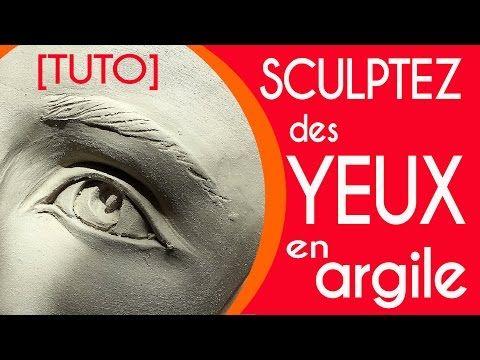 [TUTO] comment sculpter des yeux expressifs en argile pottery video ceramic clay - YouTube