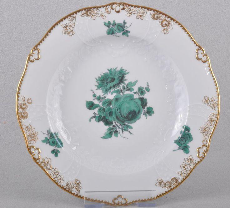 Meissen Flowers Bouquet Copper Green Side Plate Neumarseille 1st Choice