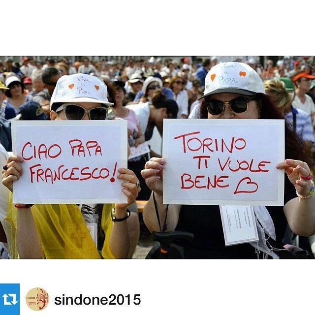 cittaditorino #Repost sindone2015 #PapaFrancesco#torino#lamiatorino#pontifexTORINO#BenvenuToFrancesco#PapaTo#turin#sindone2015#AmorePiùGrande