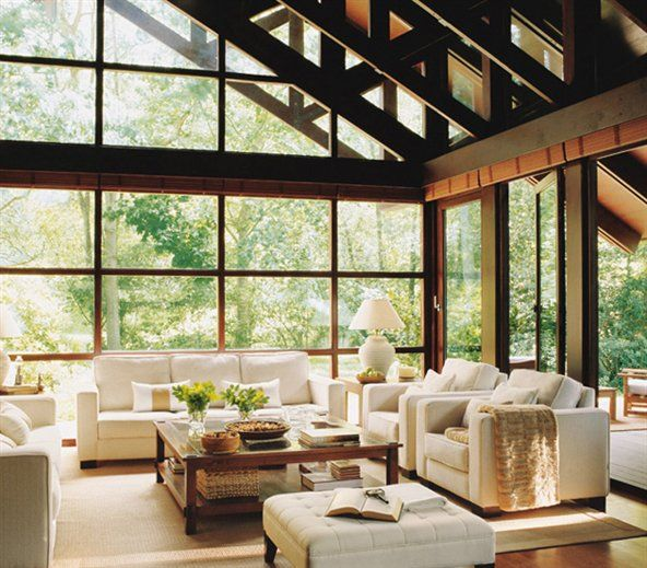 In my head, the perfect living room is similar to this one