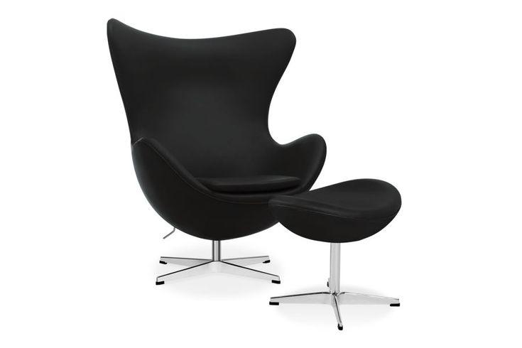 Arne Jacobsen Ägget fåtölj med fotpall