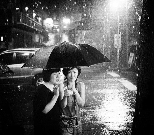 Together in the Rain - Eric Kim Street Photography