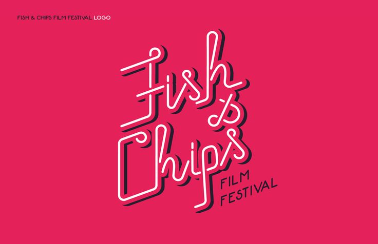 Fish&Chips Film Festival Identity project, logo.