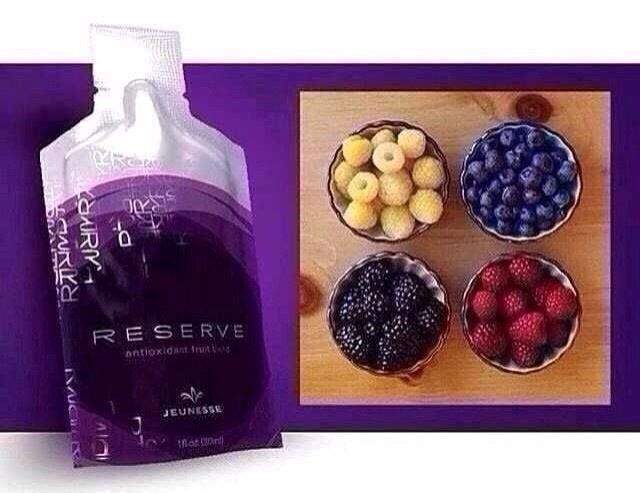 RESERVE™  Super Antioxidant With a botanical blend of antioxidants that super-charge your internal systems, RESERVE™ is a naturally sweet supplement bursting with exotic fruit juices. It contains a host of powerful ingredients that repair free radical damage and protect cells against future harm. Your cells stay healthier, live longer, and leave you looking and feeling great. http://dadapun.jeunesseglobal.com/products.aspx?p=RESERVE