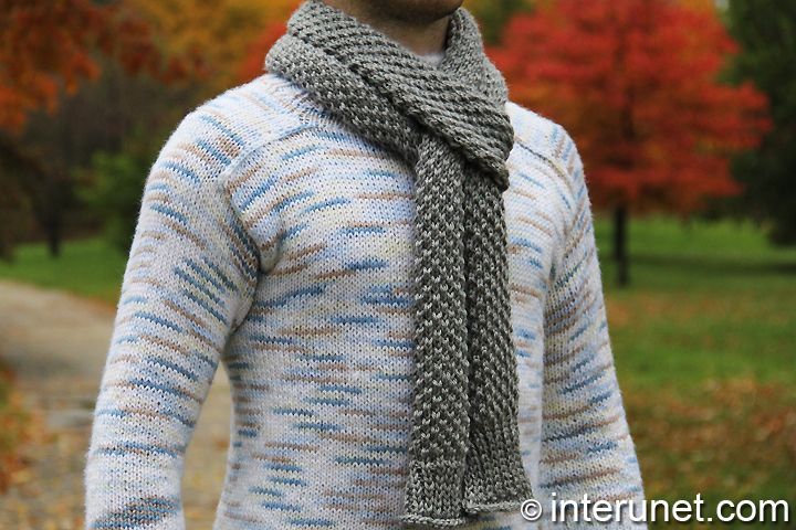 Difference Between Knit Stitch And Purl : knit mens scarf free pattern TO KNIT Pinterest