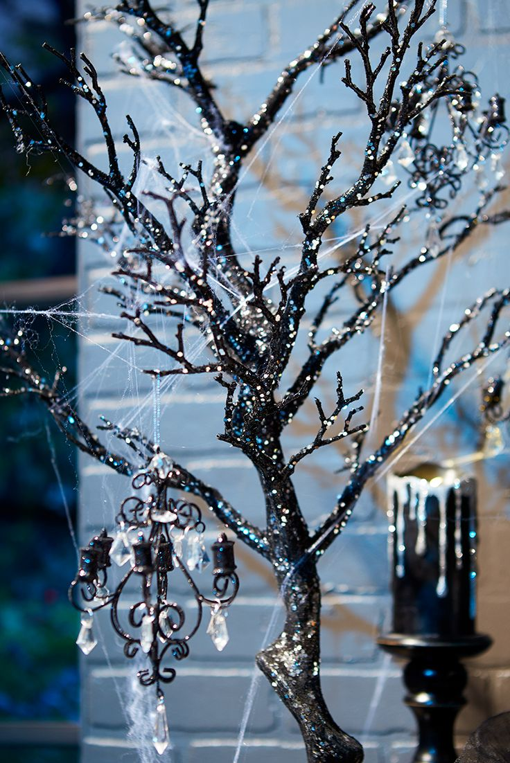 We're not going out on a limb when we say our sparkly Pier 1 Halloween decor is fab, fun and frightening. But you decide the ambience our Glitter Haunted Twig Tree lends your home—twinkling centerpiece anchor, or in the right light, twisted shadowy accent.