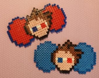 Dr. Who Tenth Doctor Inspired Perler Bows