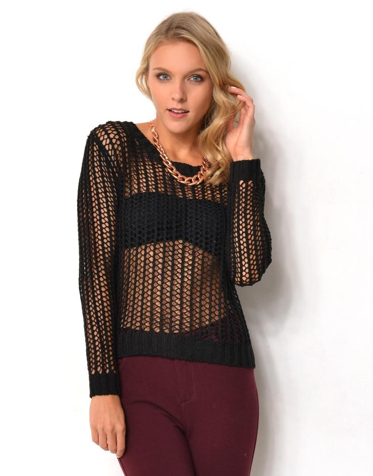 5814807 - Open Weave Knit Top