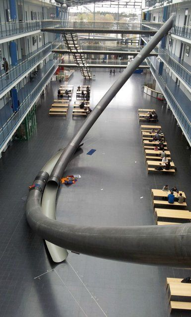 Library Slide, Very Cool!