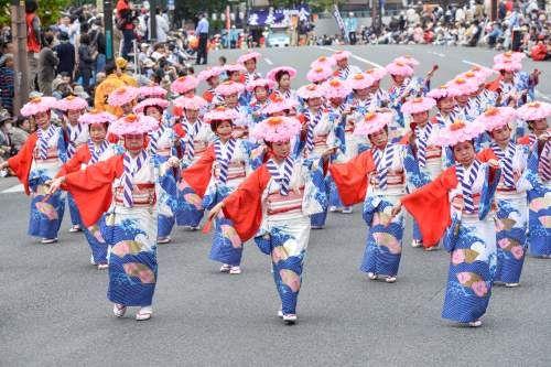 """Dontaku"" parade. Looking for more information aboout Fukuoka? Go Visit Fukuoka City Photo Gallery.  http://showcase.city.fukuoka.lg.jp/"
