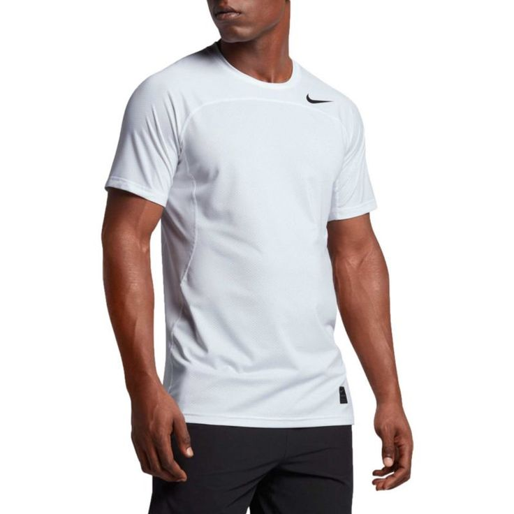 Nike Men's Pro Hypercool T-Shirt, Size: Medium, White