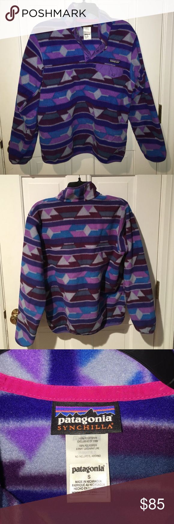 Patagonia Synchilla Jacket size S Patterned Synchilla Patagonia jacket, very lightly worn. Size Small. Super warm and comfy! Patagonia Jackets & Coats Puffers
