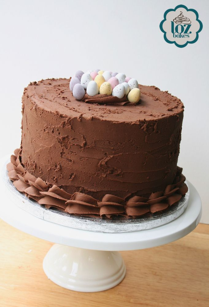 Mini Egg triple layer chocolate cake