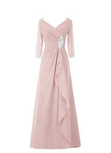 Diyouth Long Asymmetric Pleated V-Neck Mother of the Bride Dress Sleeves Dusty Rose Size 2 Diyouth http://www.amazon.com/dp/B00U118SRK/ref=cm_sw_r_pi_dp_v1Xkvb1P4GD52