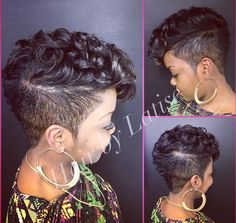 Super 1000 Images About Mohawk For The Woman On Pinterest Faux Hawk Short Hairstyles For Black Women Fulllsitofus