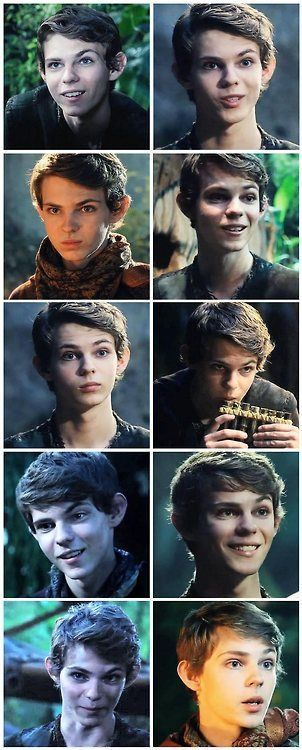 Robbie Kay is so divine as Peter Pan.