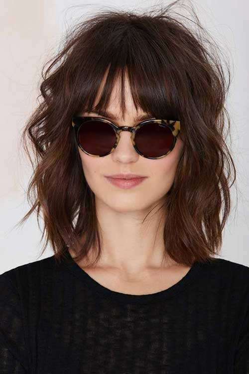 cool   Short Haircuts having Bangs and wavy Hair