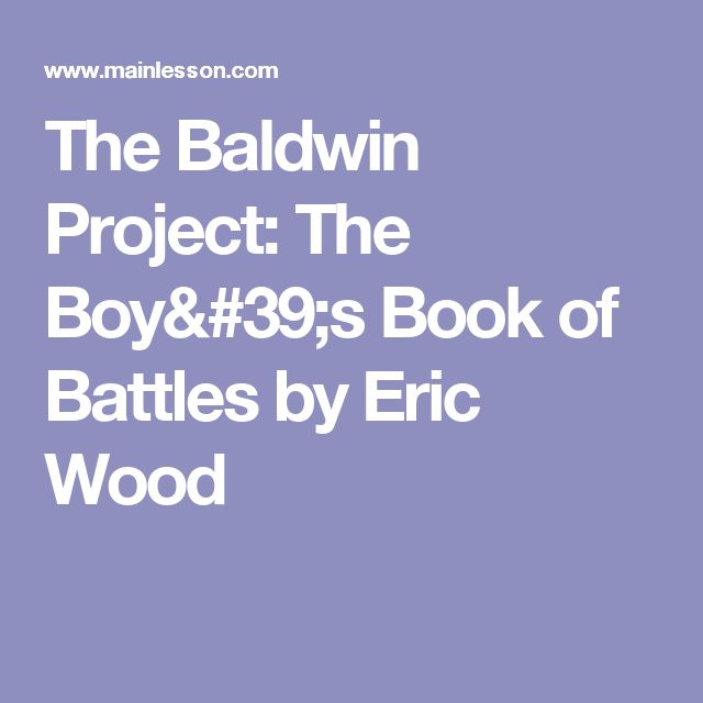 The Baldwin Project: The Boy's Book of Battles by Eric Wood