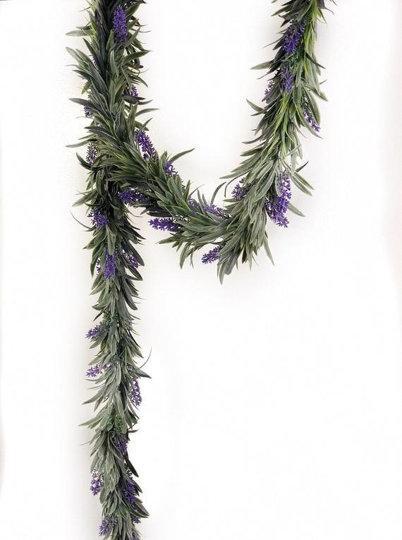 artificial lavender5 1//2ft wedding arch Lavender Garland for wedding arch