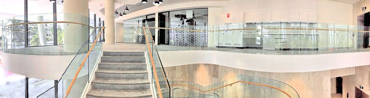 Thump X1 Series Frameless #StairGlass Balustrade on Southpoint Building: Flight Centre AU HQ for Watpac