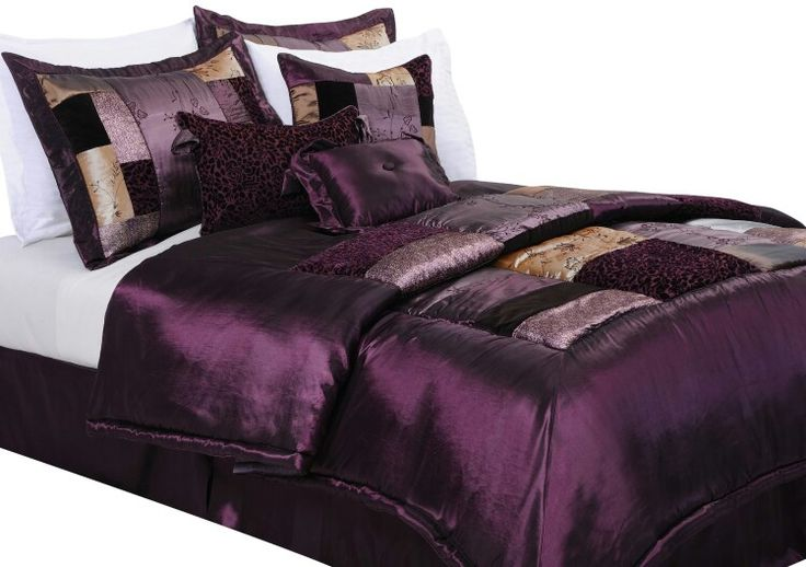 32 Best Purple And Black Bedding Images On Pinterest