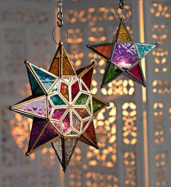 Moroccan style large star glass lantern pinned via @Sahrazade