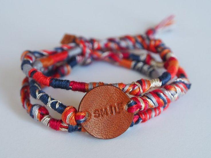 A'han:life 【專屬訂製】【植鞣皮】 植鞣皮x手織繩系列: 手環。圓。長 - 設計師品牌 A'han:life - Pinkoi
