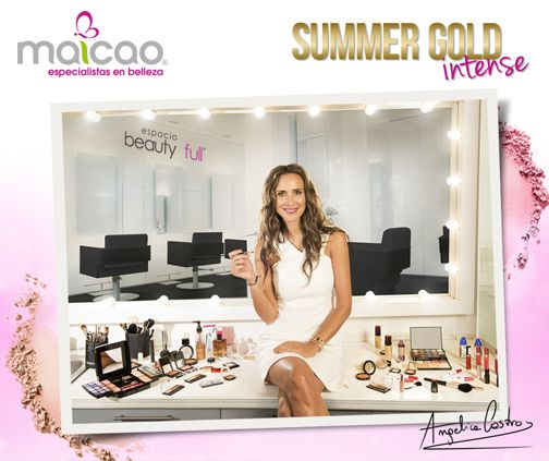 """Esta temporada primavera - verano 2016 la belleza se vive en MAICAO. Ingresa a este link -> http://bit.ly/1LuZSS5 y descubre cómo y con qué productos lograr el look de maquillaje Summer Gold """"Intense"""" junto a Angélica Castro."""