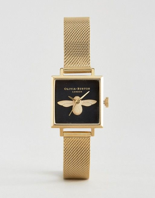 Olivia Burton Molded Bee Square Dial Watch