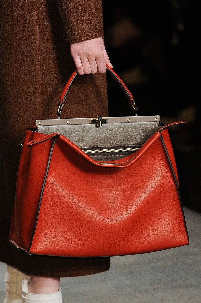 The perfect red tote - Runway bags Milan Fashion Week Fall 2014 #MFW