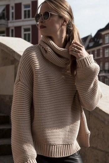 Oversized turtle Neck Pulllover