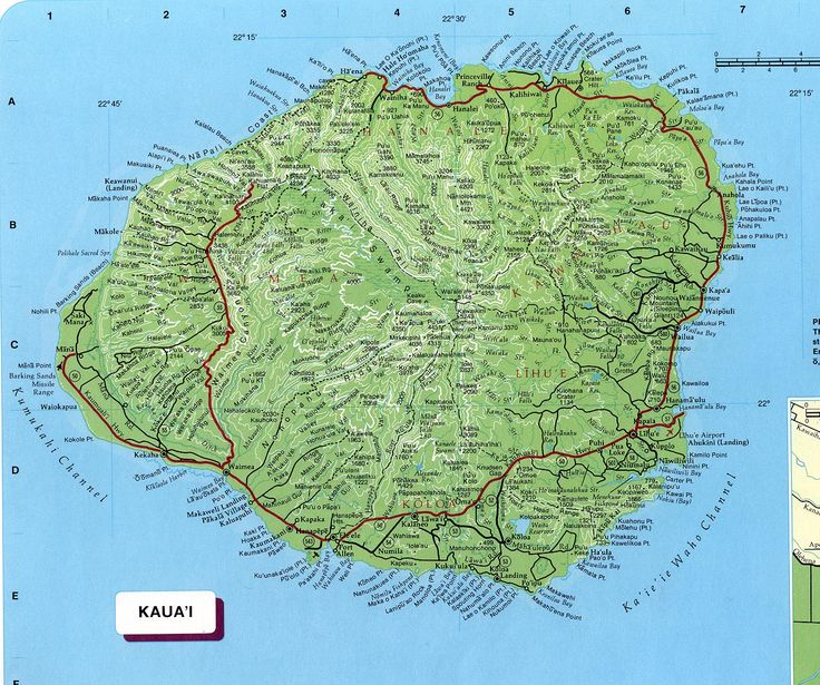 Kauai | Kauai Map See map details From botany.hawaii.edu