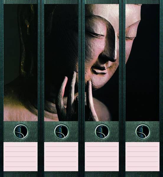Lever Arch File Label Buddha AJ003