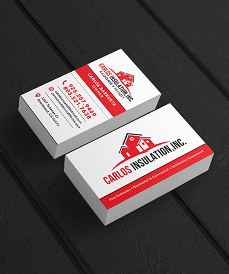 Custom business card design for insulation company brand
