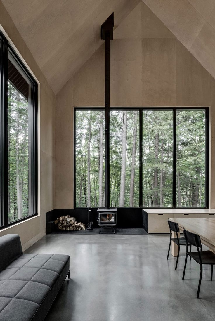 Tour a Stunning Forest Getaway by Montreal-Based Firm APPAREIL architecture