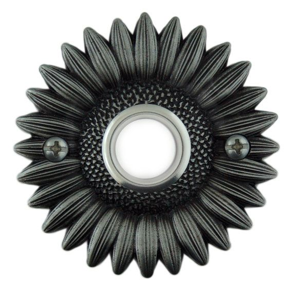 Sunflower Doorbell button cover with lighted button