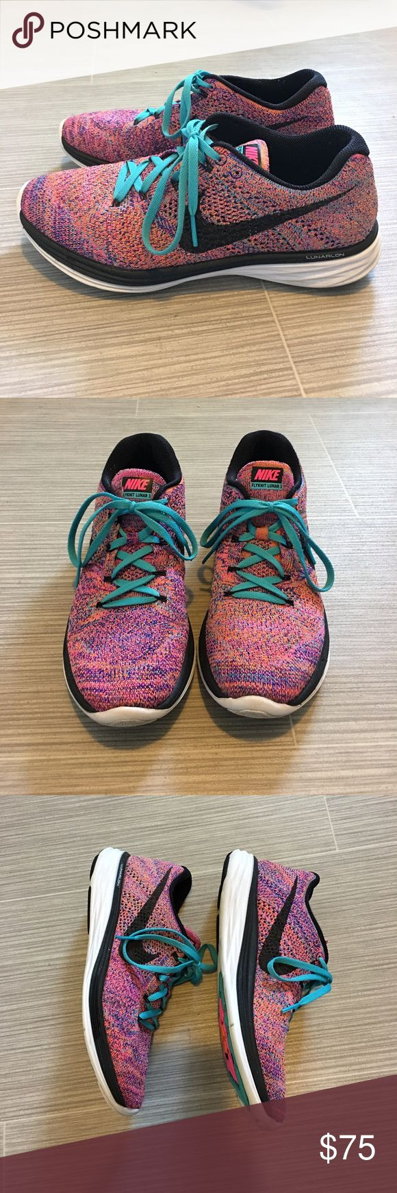 Nike Flyknit Lunar 3 size 9.5 Nike Flyknit Lunar 3 size 9.5. Super comfy, worn a handful of times. Very good condition. Nike Shoes Athletic Shoes