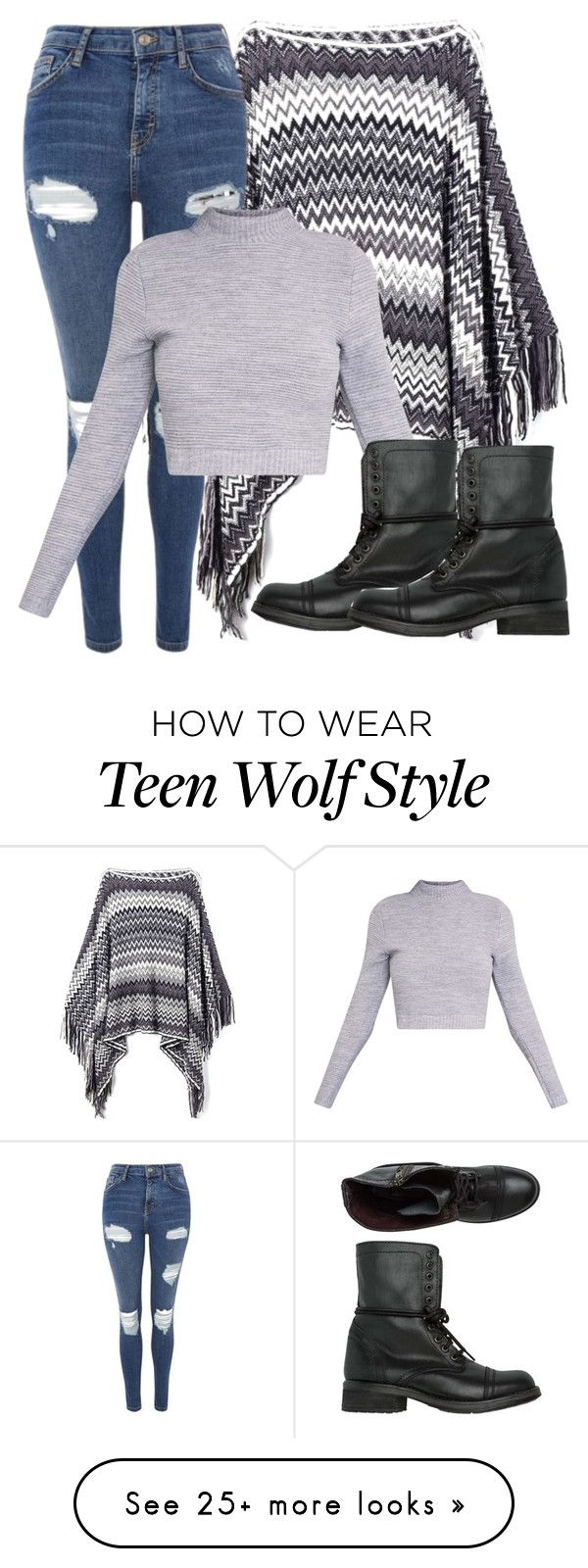 """Issac Inspired Outfit - Teen Wolf"" by clawsandclothes on Polyvore featuring Topshop and Steve Madden"