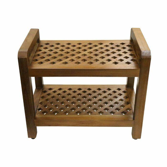 Cyr 21 W Teak Shower Bench With Images Teak Shower Seat Wood